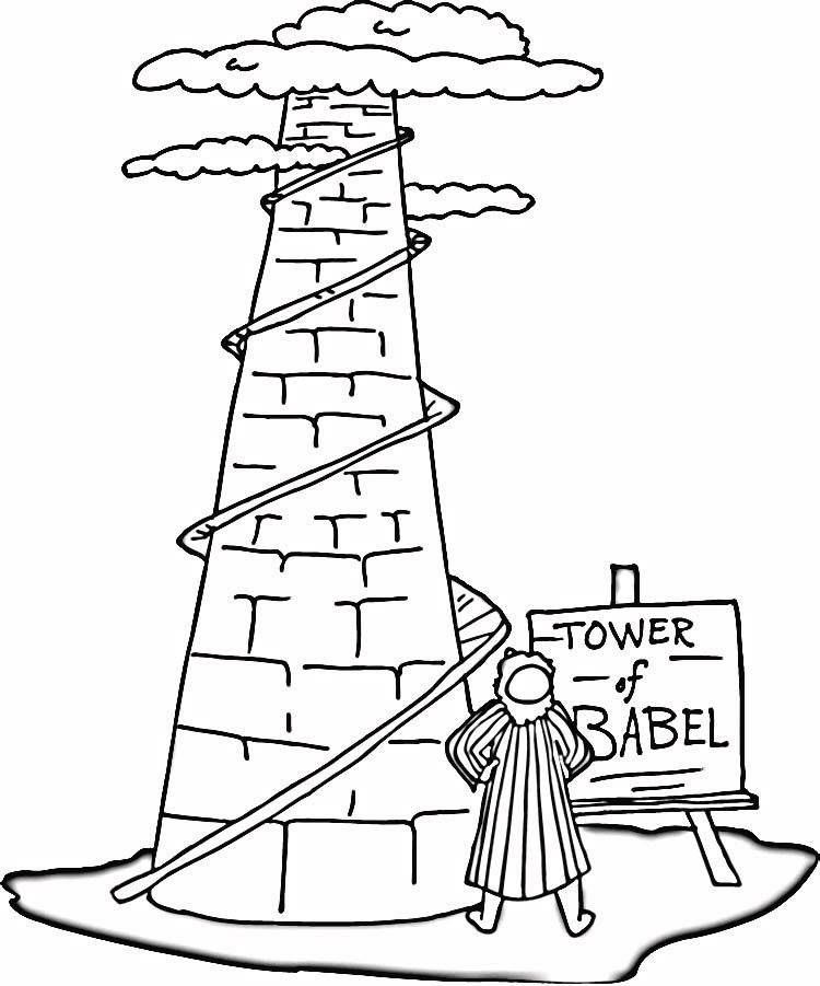 tower of babel coloring pages  coloring home