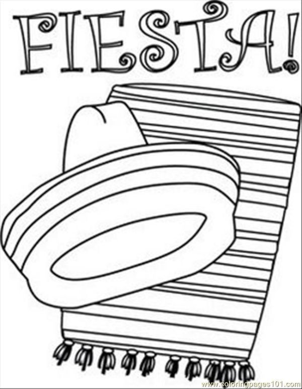 fiesta coloring pages # 5