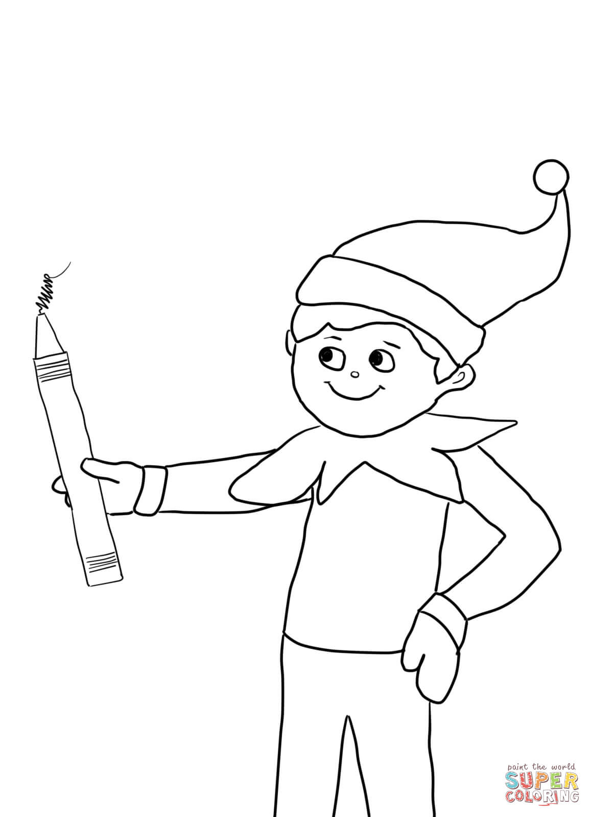 Elf On The Shelf Coloring Pages Free