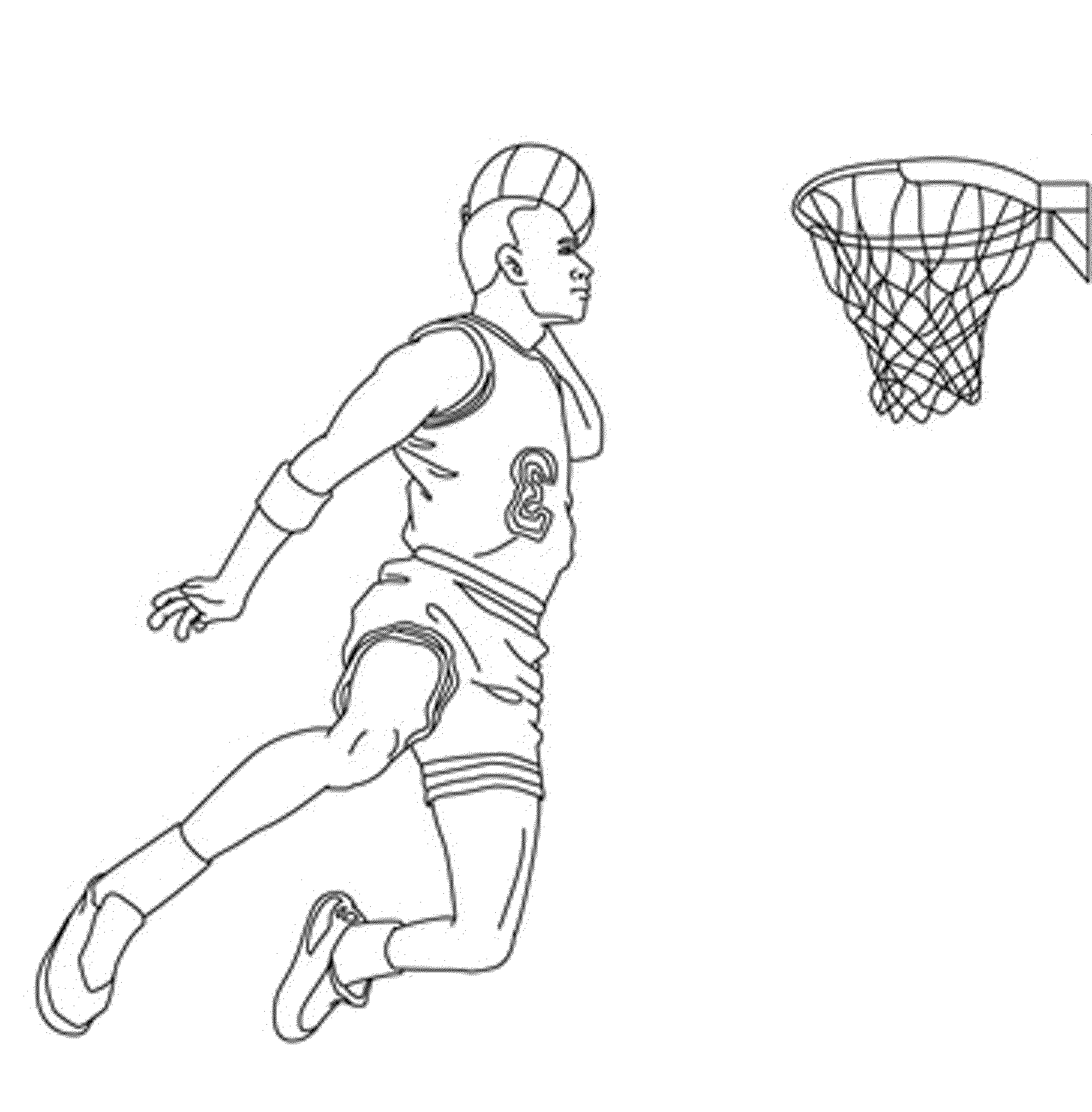 Coloring Pages Basketball Players