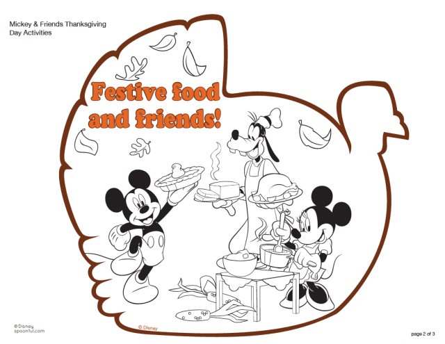 Coloring Pages Thanksgiving Disney - Coloring Home