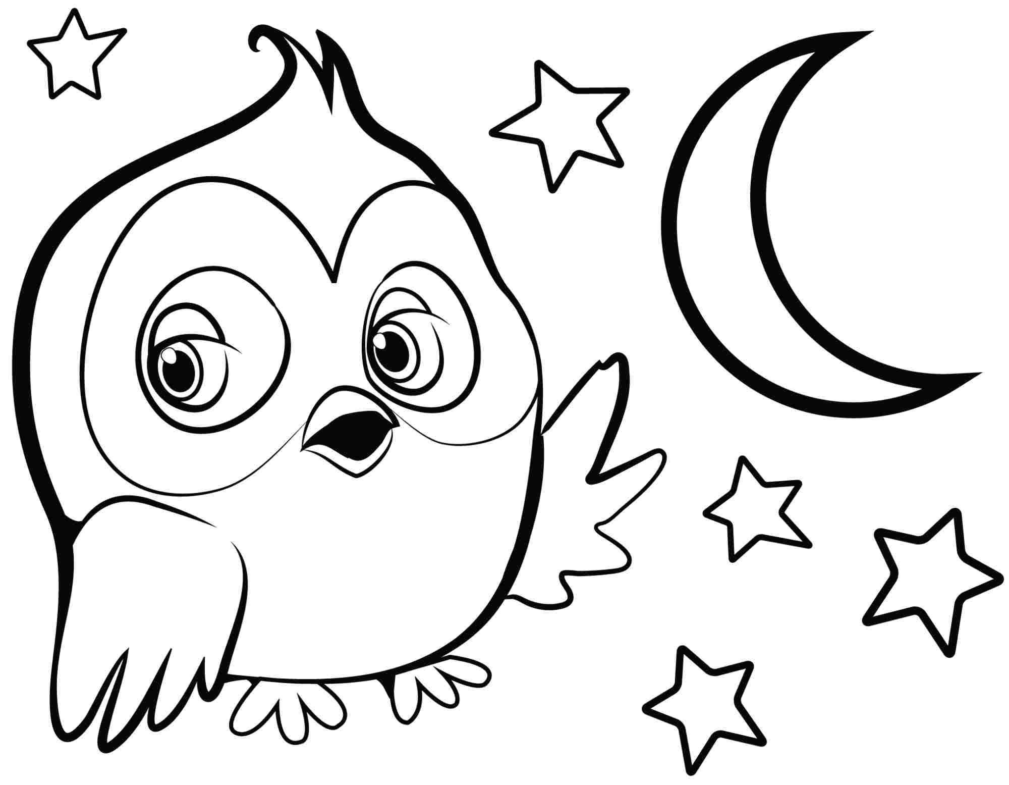Cute Owl Coloring Pages To Print