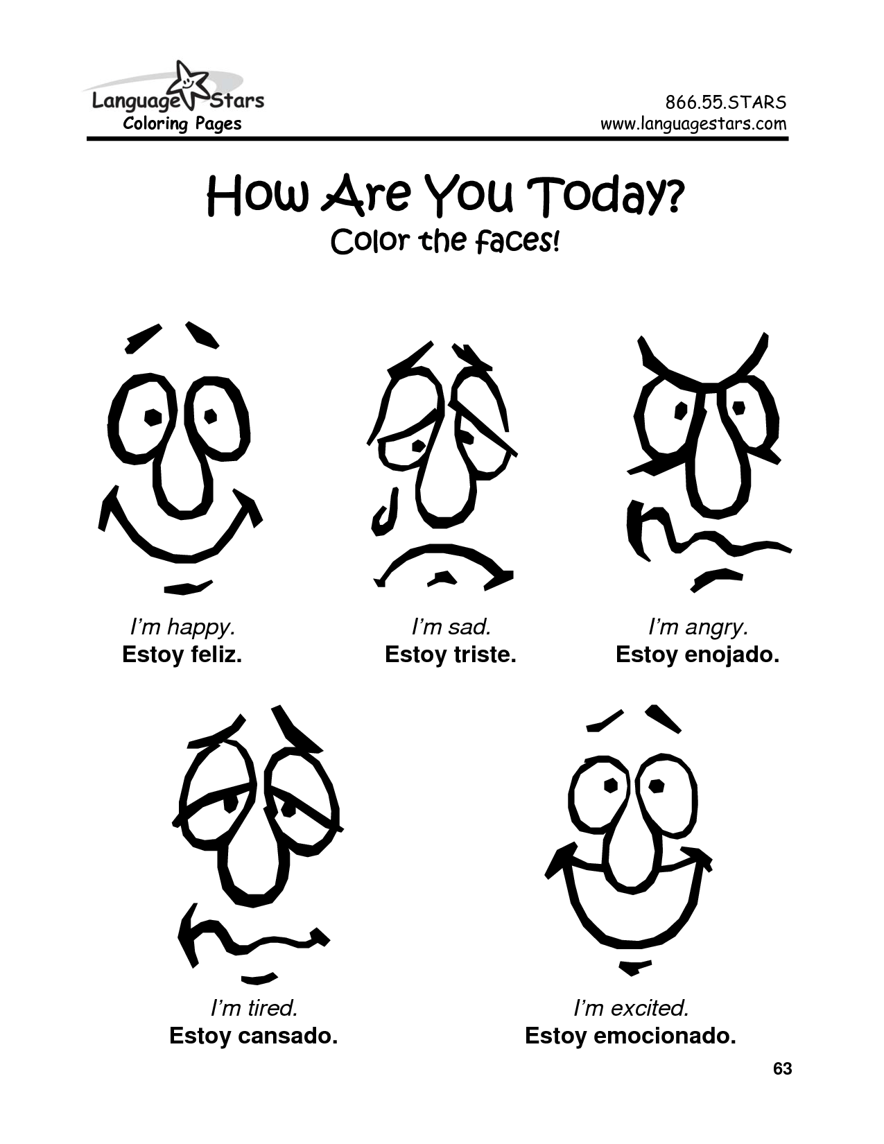 Coloring Page Of A Sad Face
