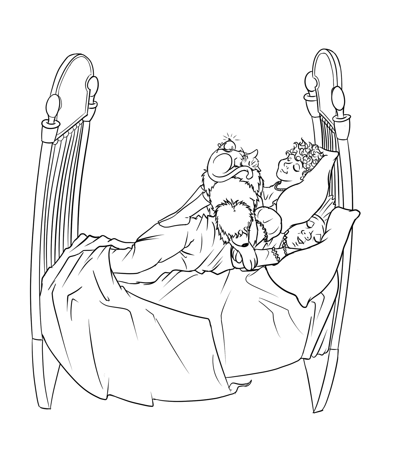 The Napping House Coloring Pages
