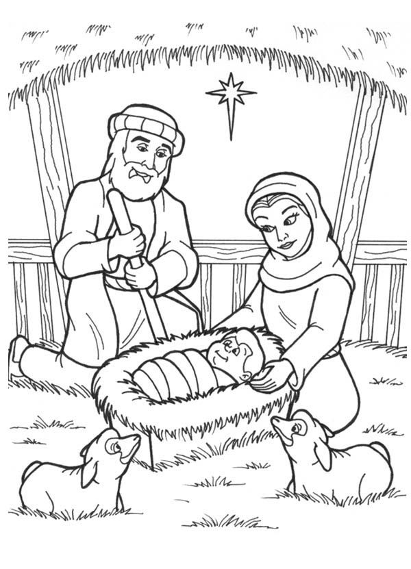the birth of jesus coloring page  coloring home