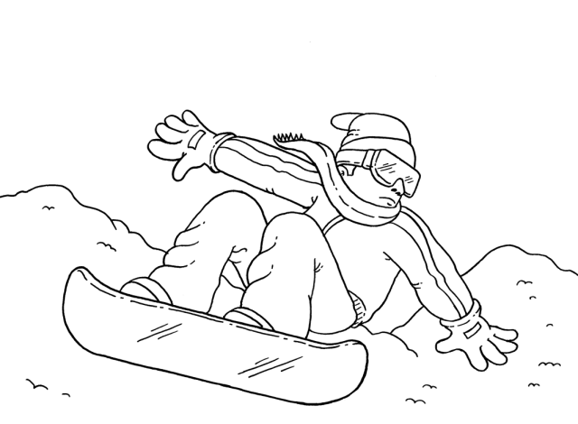 Snowboarding Coloring Pages - Coloring Home