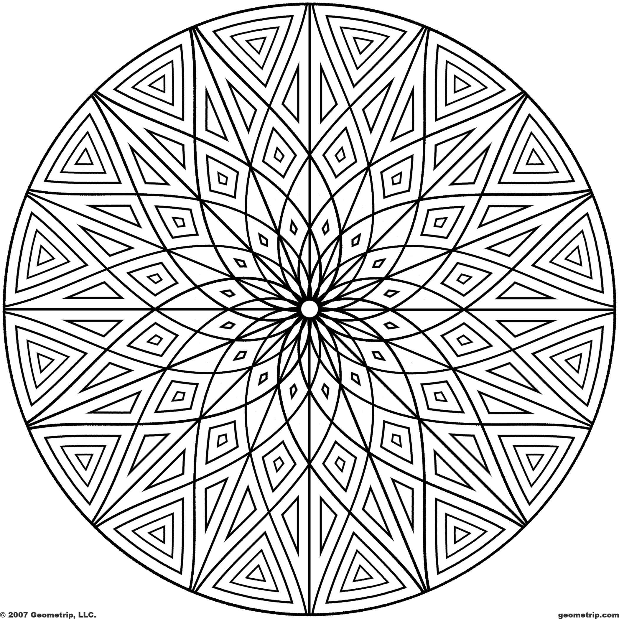 Flower Pattern Coloring Pages