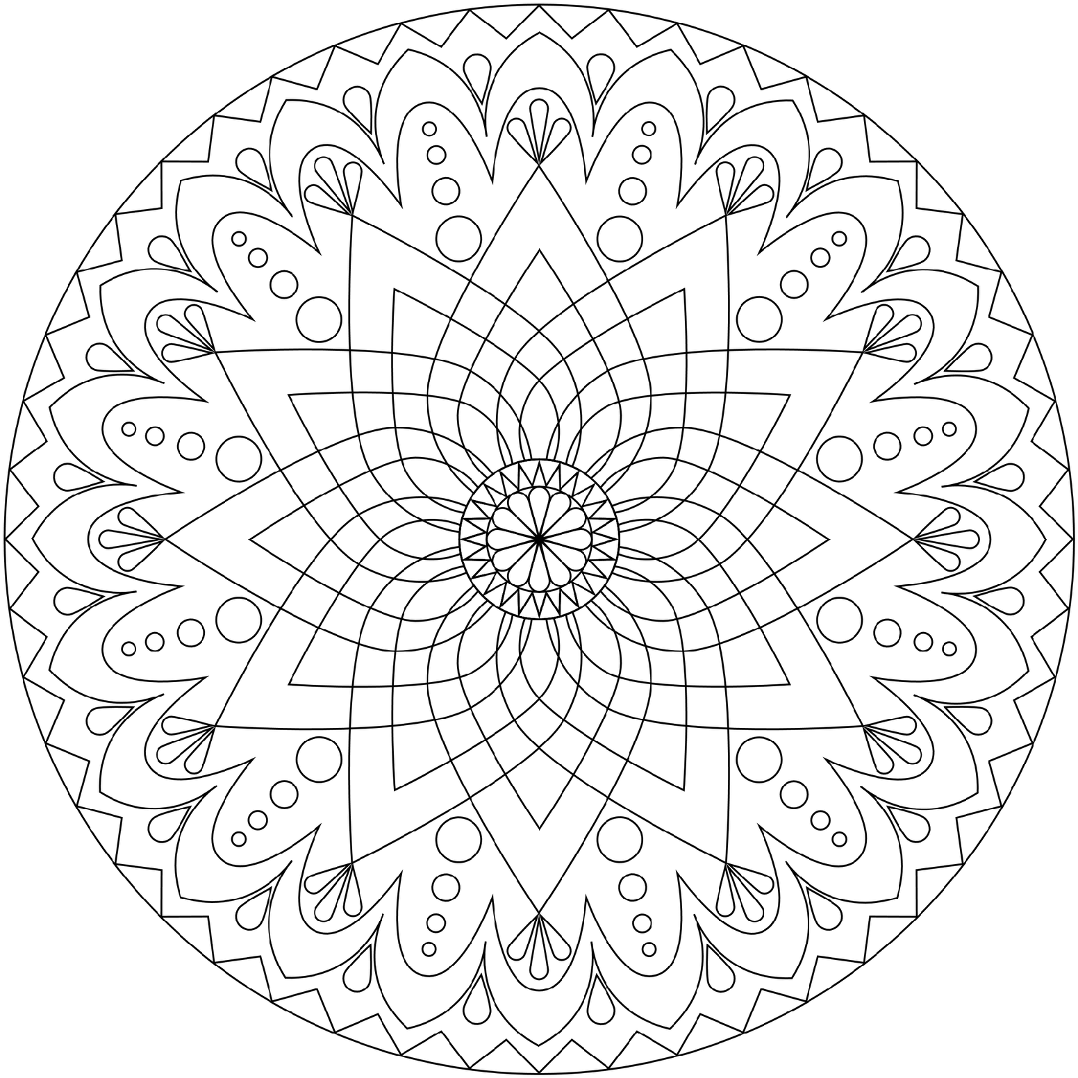 Free Mandala Coloring Pages For Adults - Coloring Home | mandala coloring pages for adults online