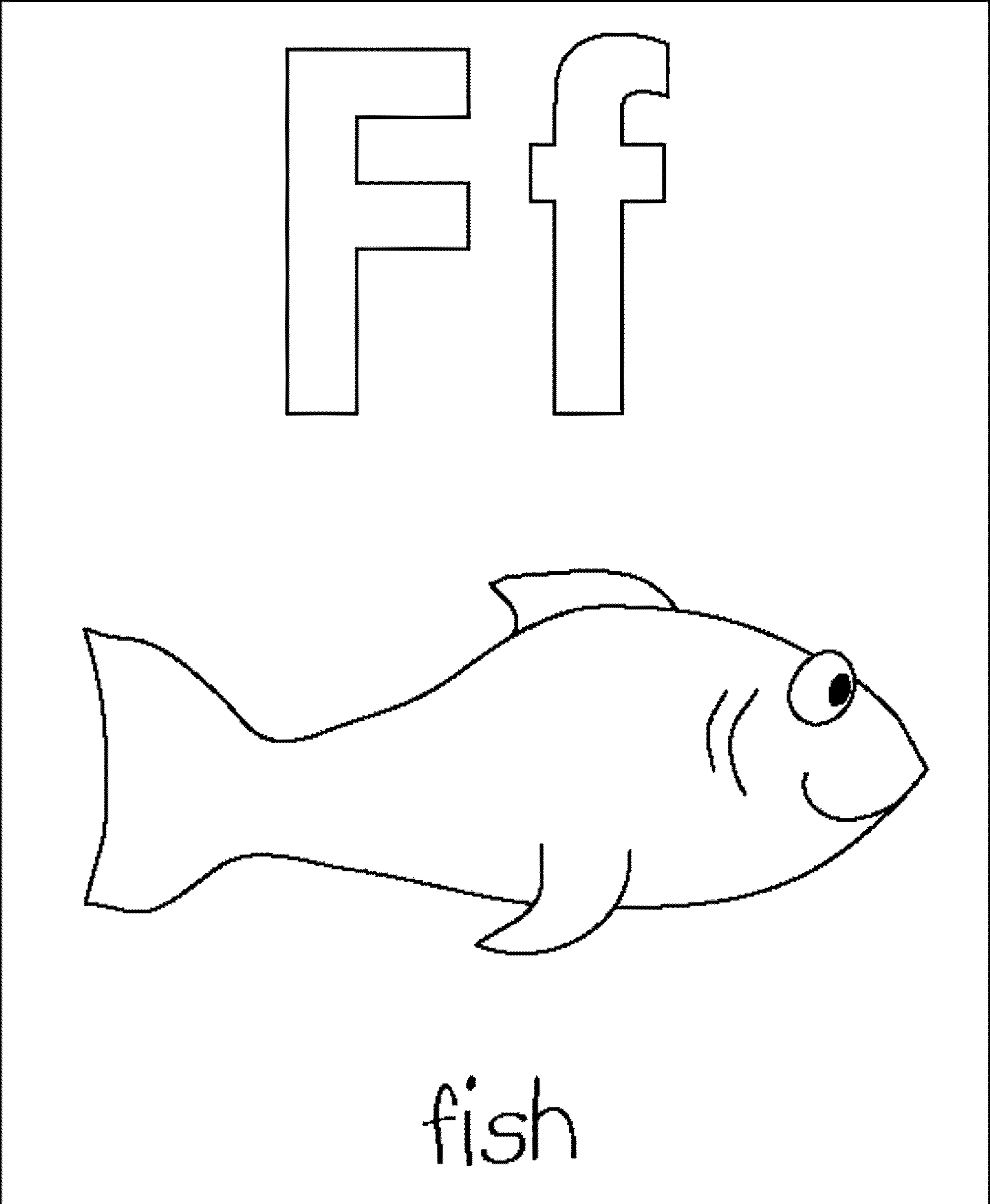 Free Printable Letter F Coloring Pages