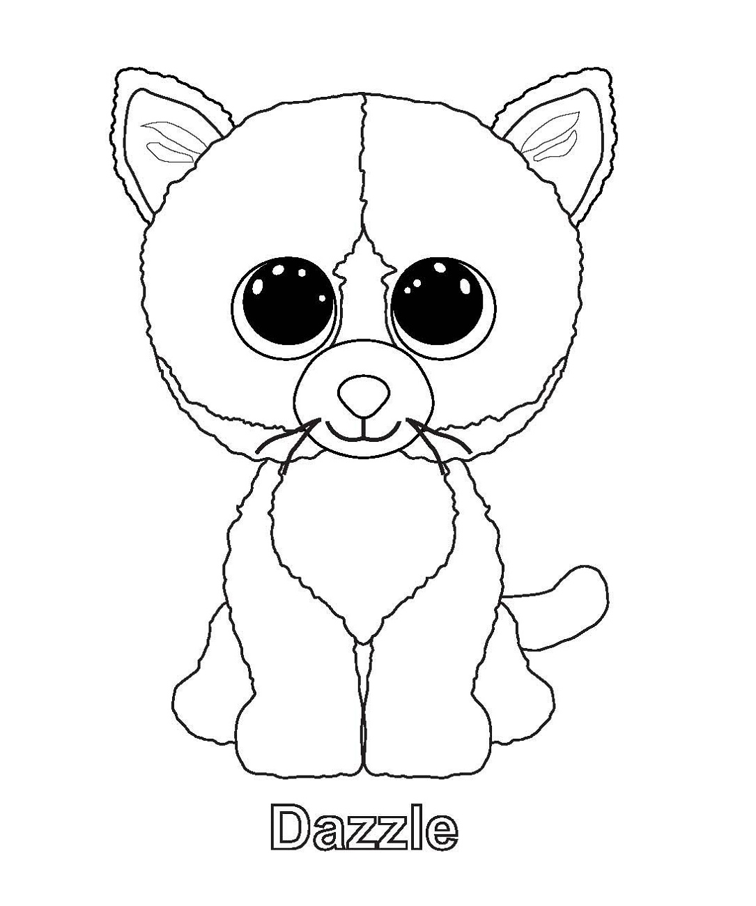 Beanie Boo Coloring Pages Coloring Home