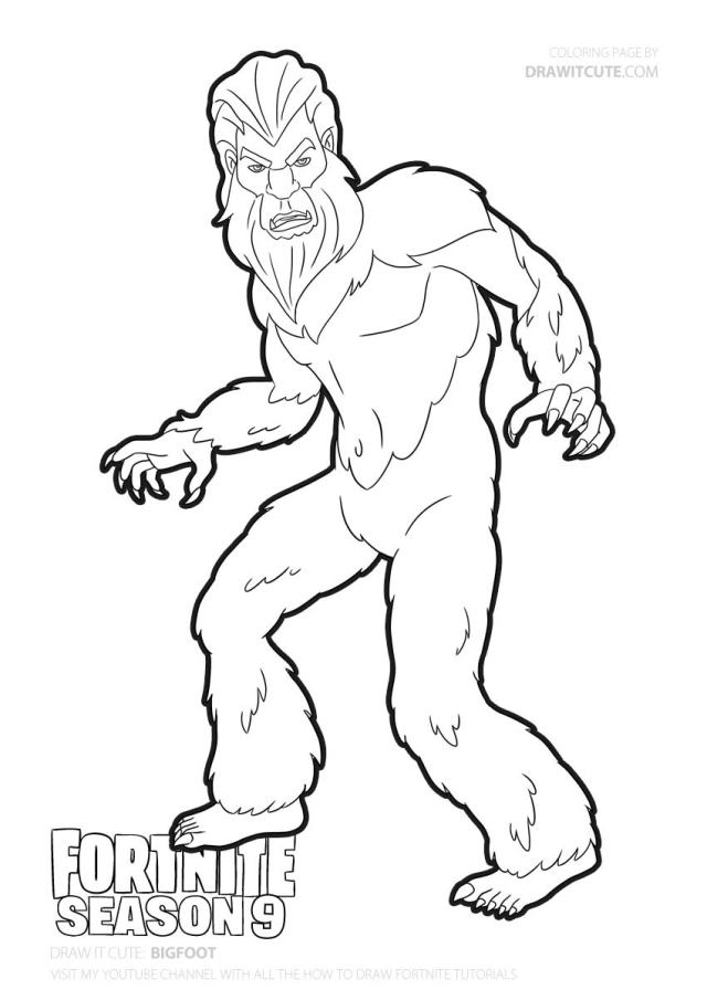 Coloring Pages : Coloring Pages Bigfoot Yeti To Print Free