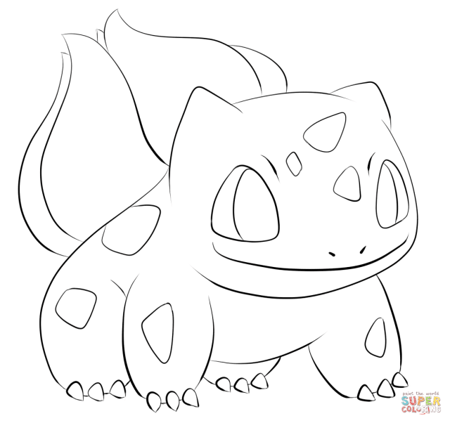 Bulbasaur Coloring Page - Coloring Home