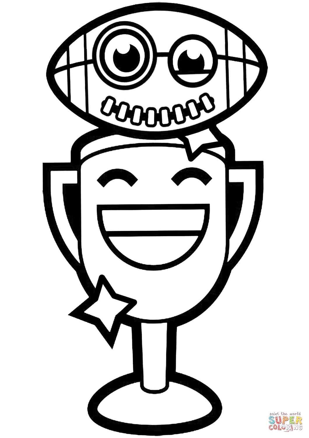 Trophy Coloring Pages
