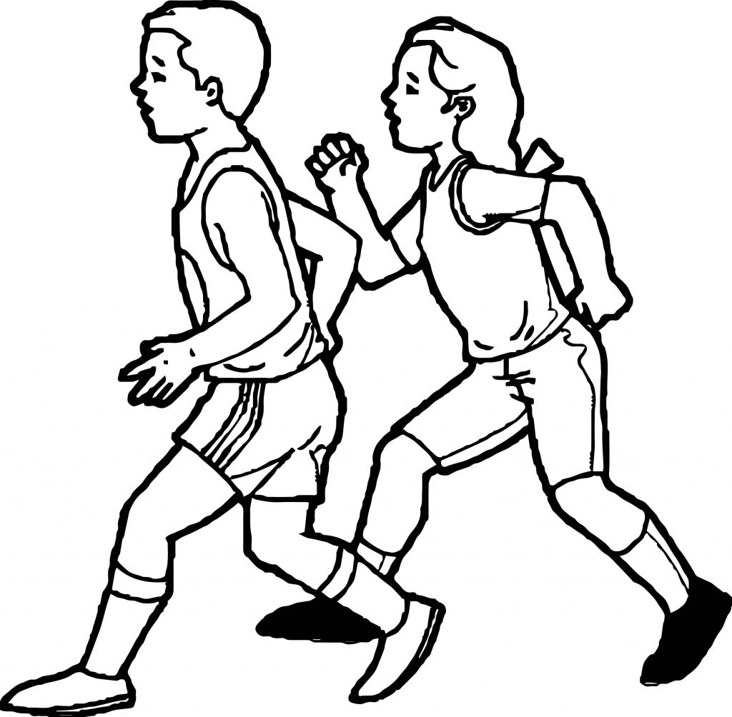 Exercise Coloring Pages