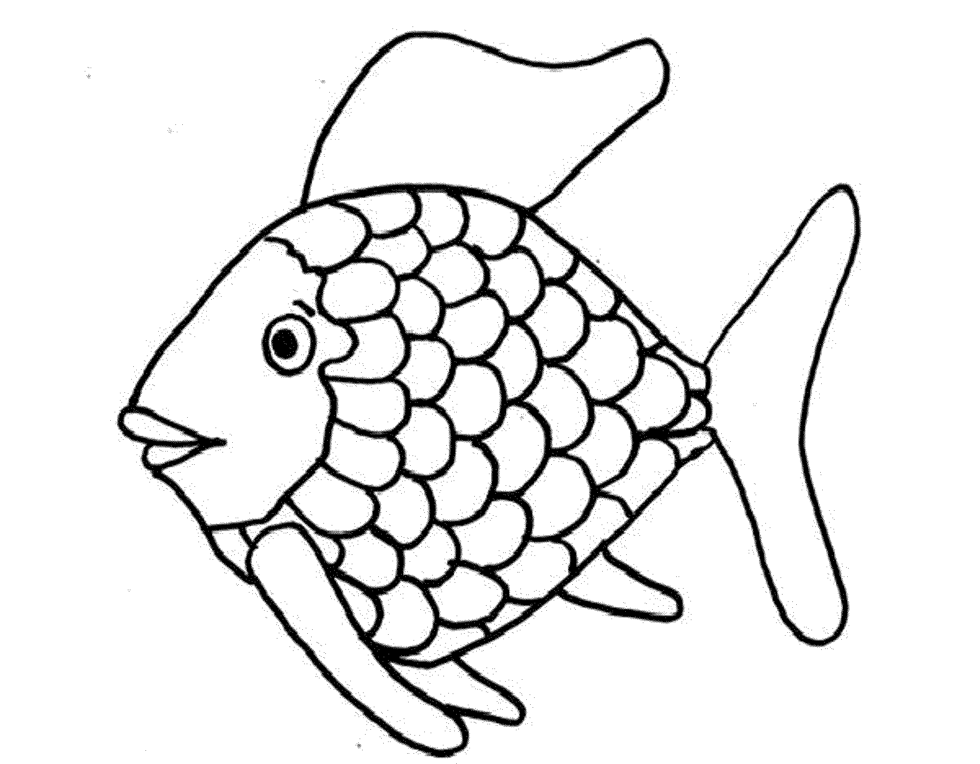 Rainbow Fish Printable Coloring Page