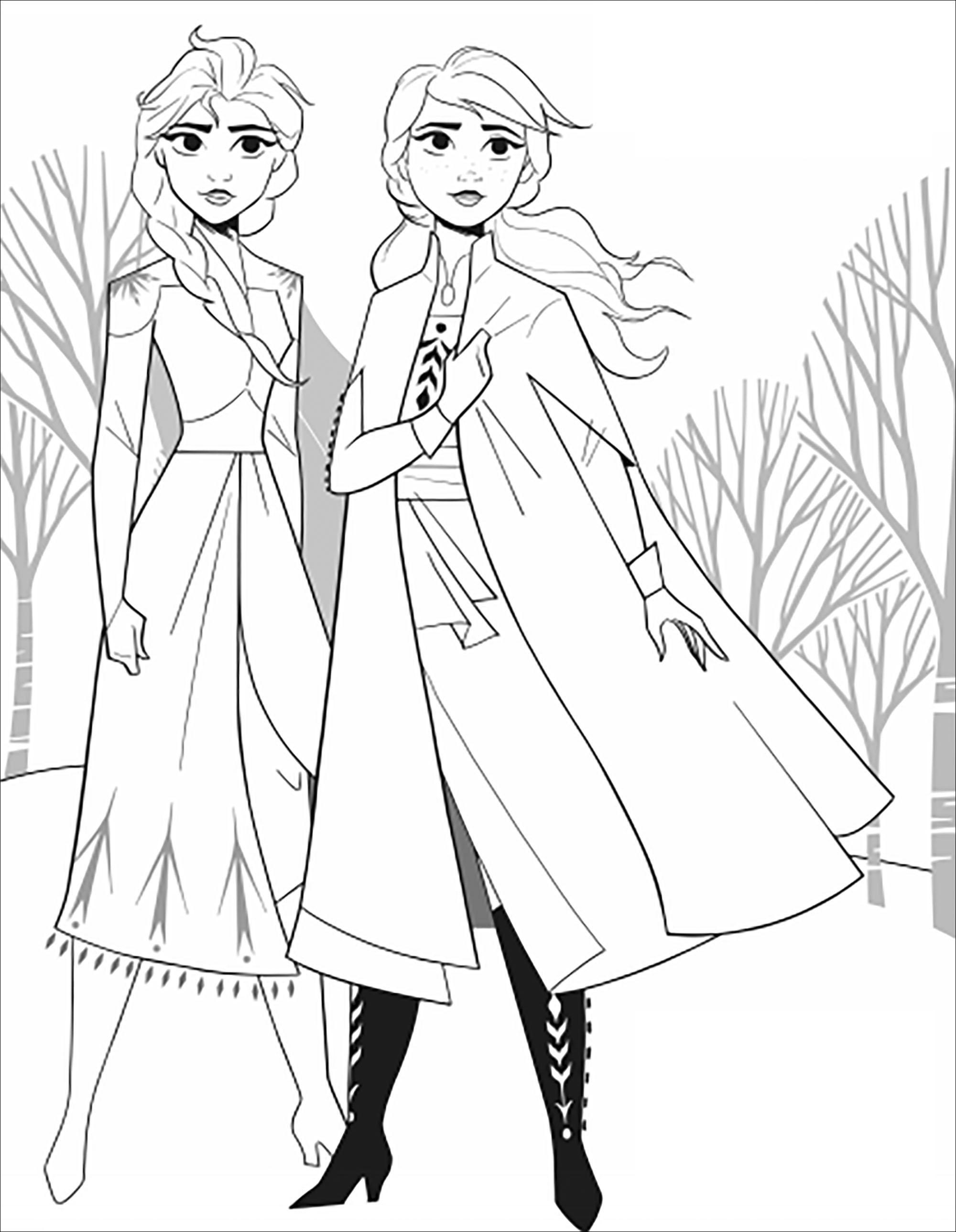 Frozen 2 Coloring Pages