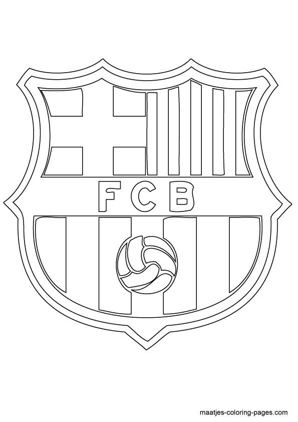 coloring messi logo pages