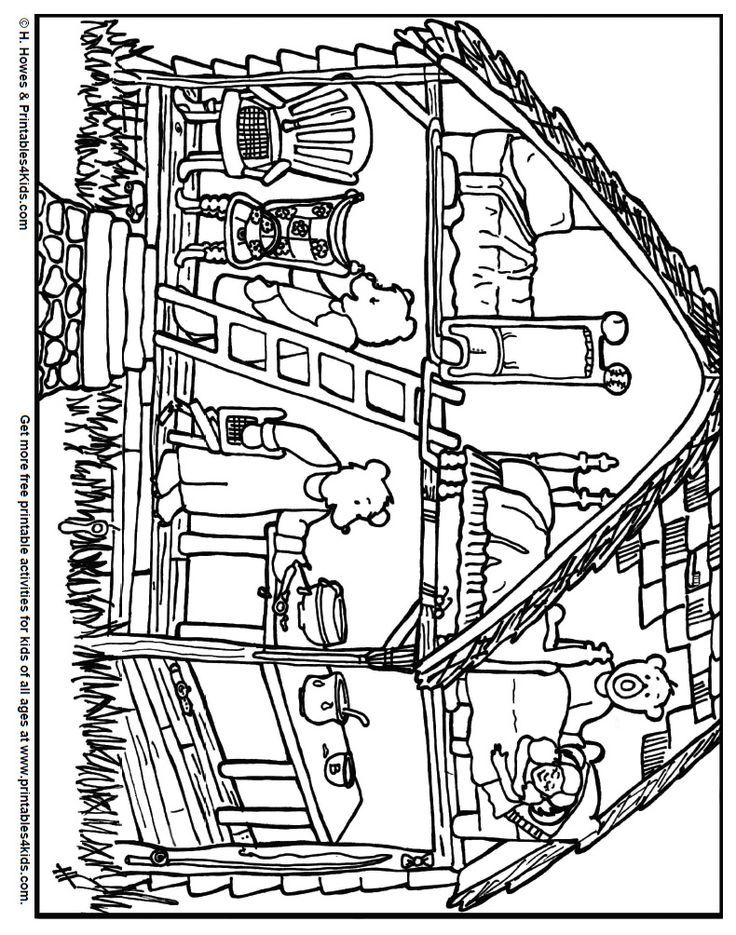 goldilocks coloring pages  coloring home