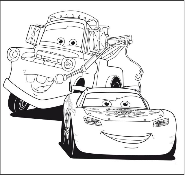 Disney Cars Coloring Pages PDF - Coloring Home