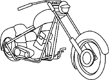 motorcycle coloring pages 1 coloring kids