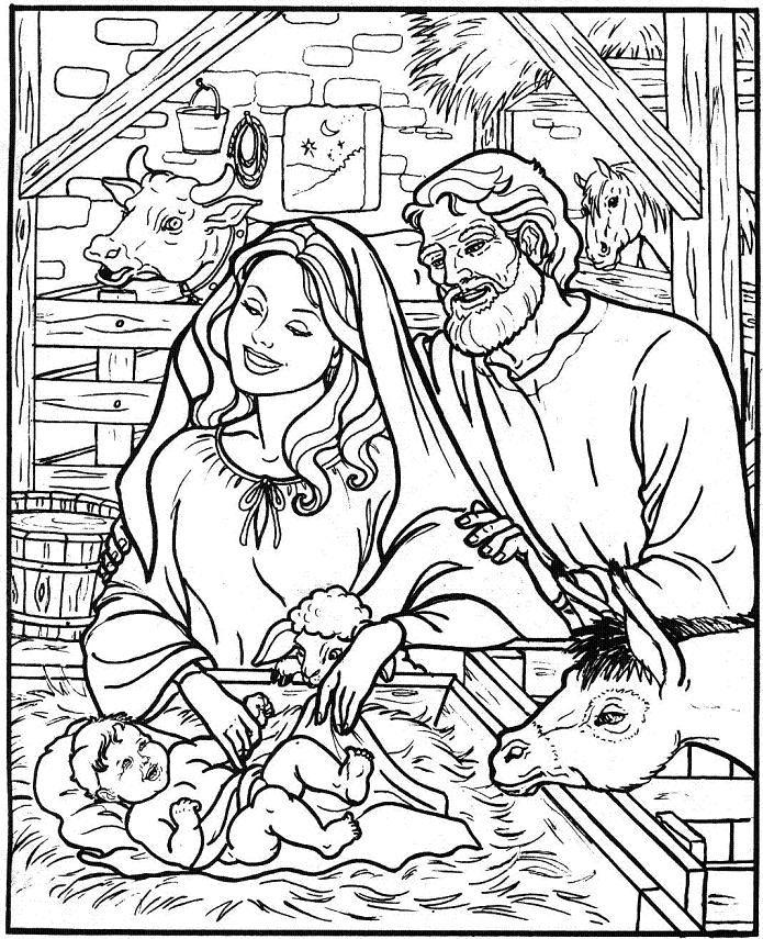 Free Printable Christmas Nativity Colouring Pages Novocom Top