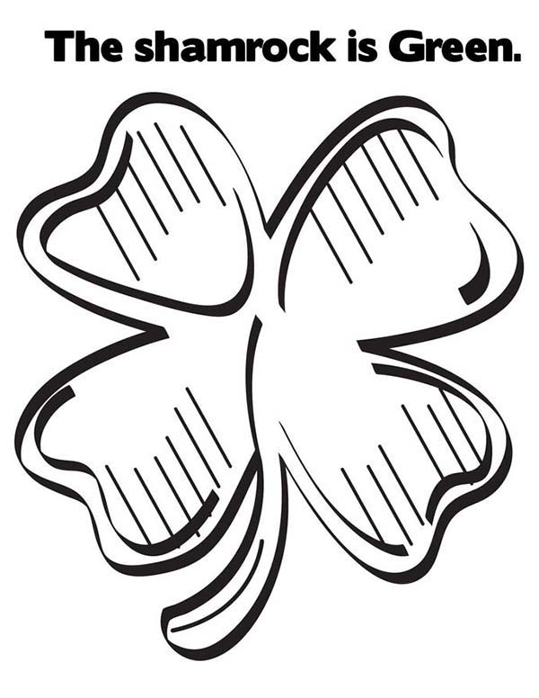 free kids shamrock coloring pages activities shamrock coloring pages