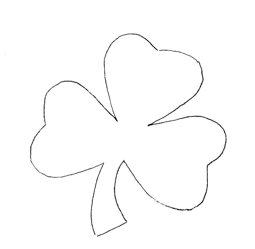 shamrock coloring pages coloring kids