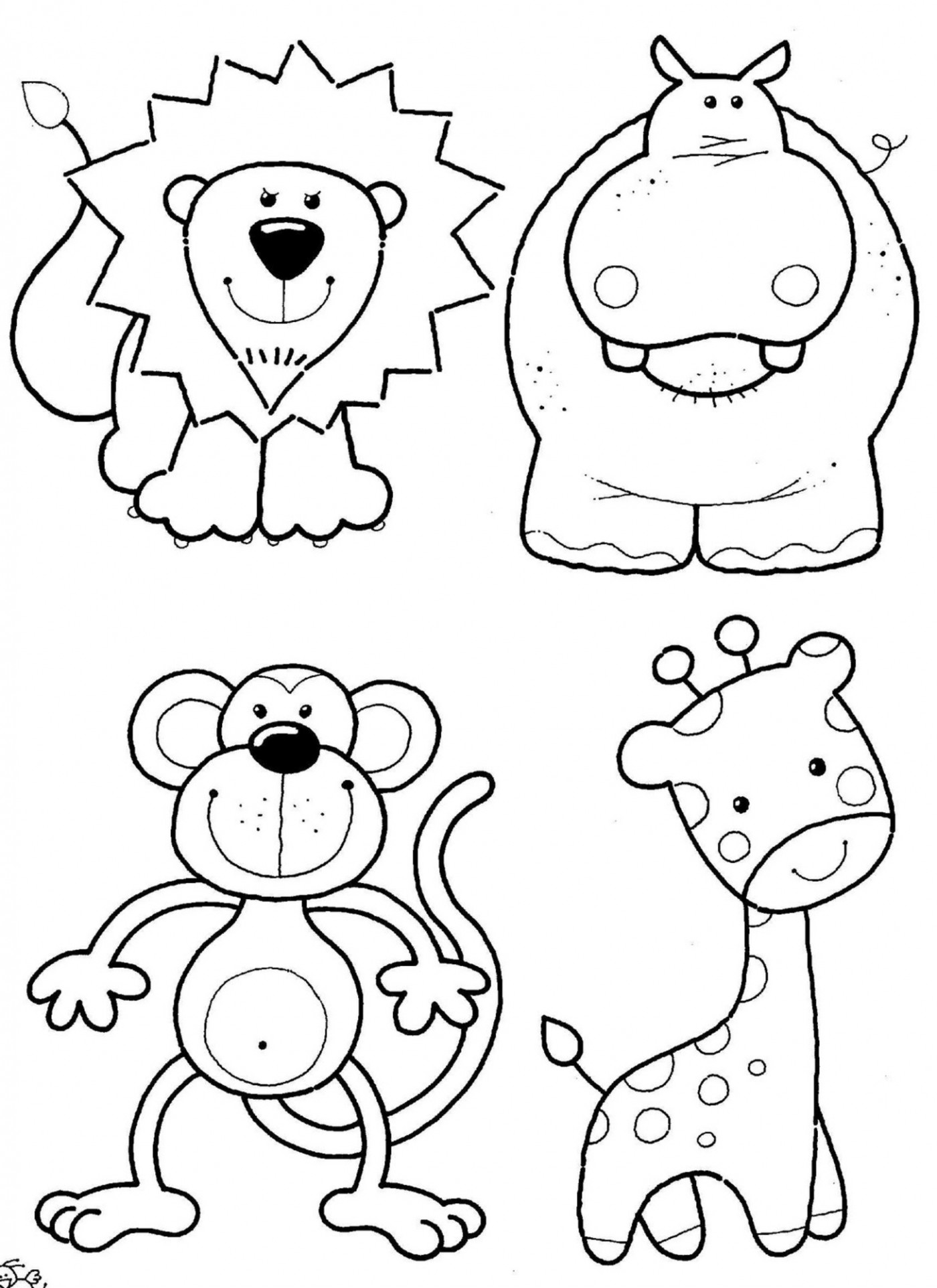 free kids animal coloring pages 14 activities animal coloring pages 14
