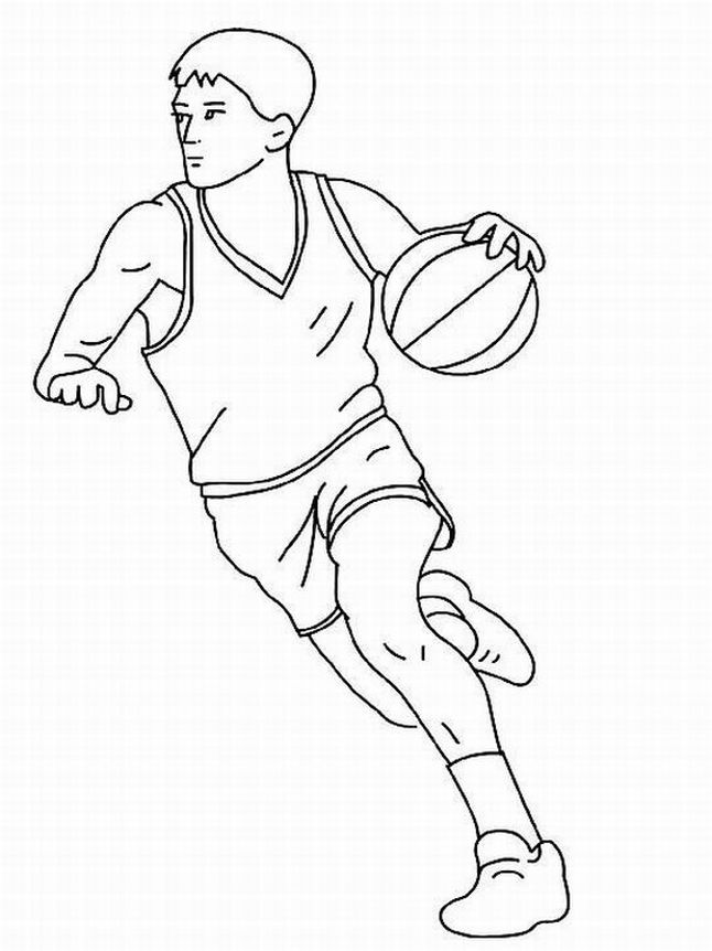 basketball coloring pages 6 coloring kids