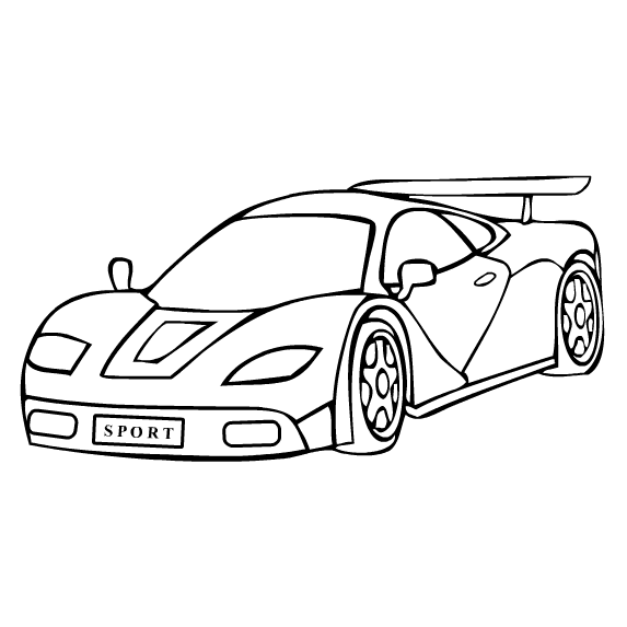 car coloring pages printable for free | Coloring Page for kids