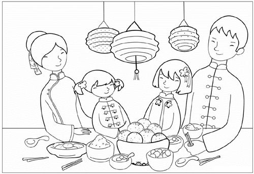 chinese new year colors coloring pages for adults coloring pages