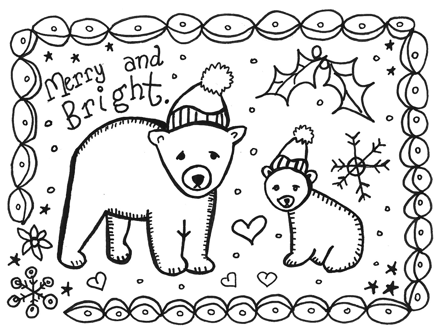 Christmas Coloring Cards 3 Coloring Kids