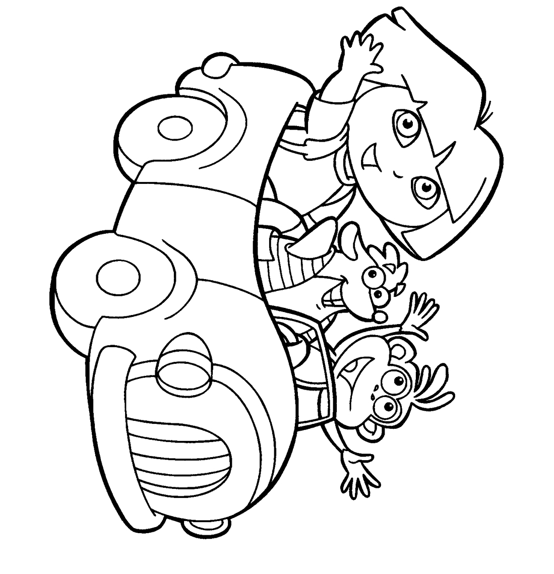 Dora The Explorer Coloring Pages 5 Coloring Kids