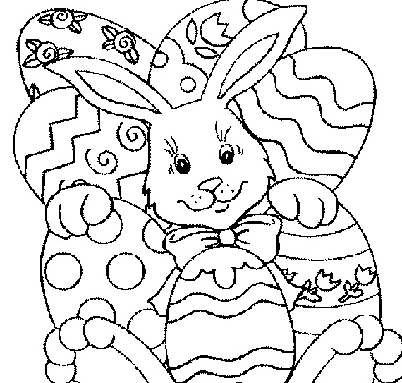 easter color pages aductk