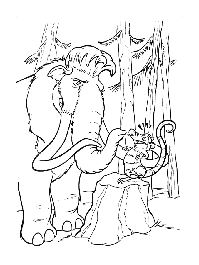 ice age coloring pages 7 coloring kids