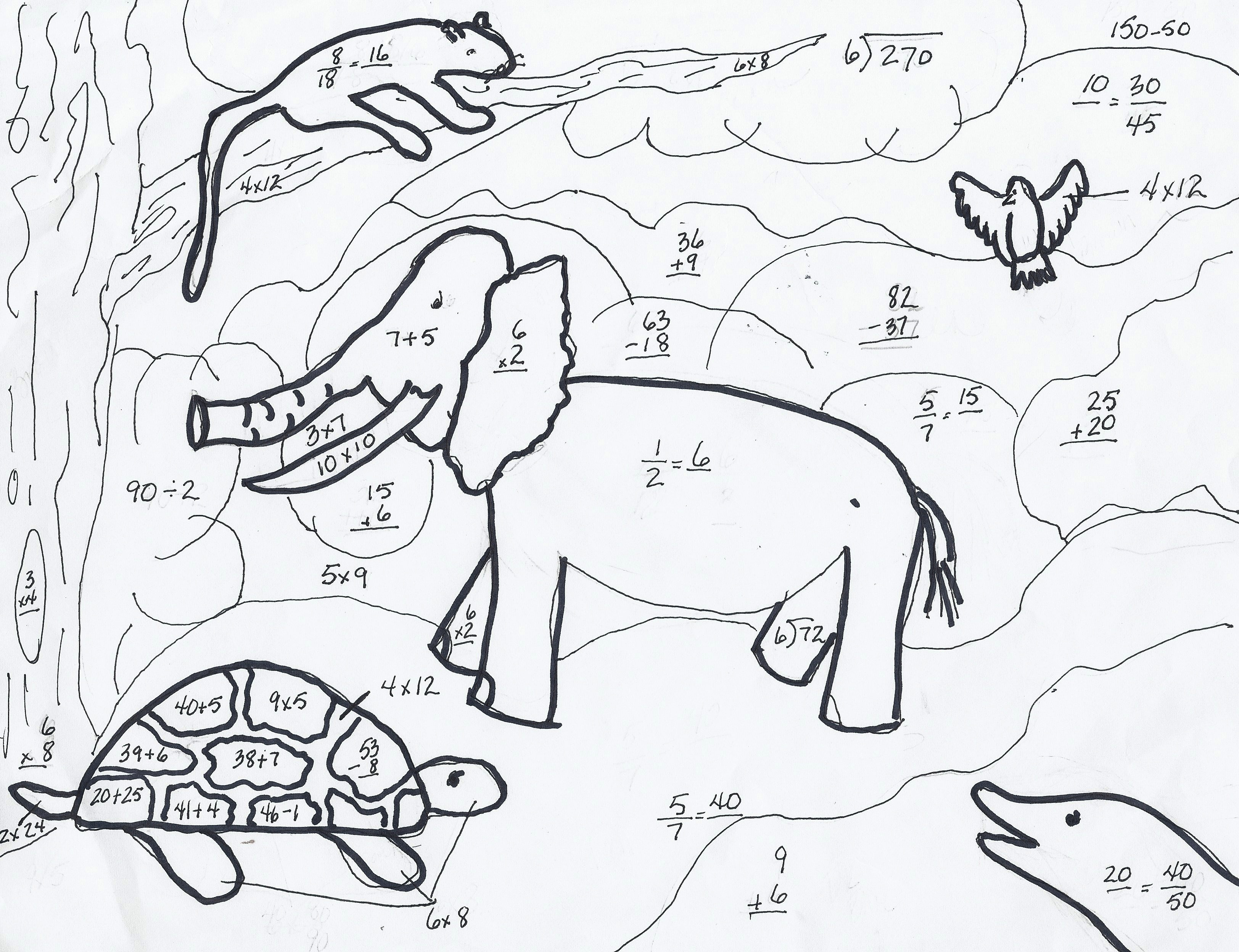 Math Coloring Pages 7