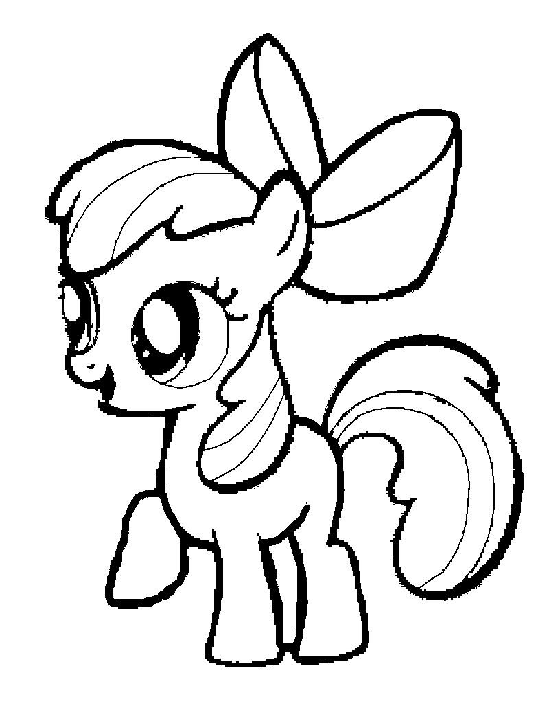 My little pony coloring pages rainbow dash baby - Pony Coloring Pages For Kids Printable Coloring Pages For Kids With My Little Pony Coloring Pages Pinkie Pie