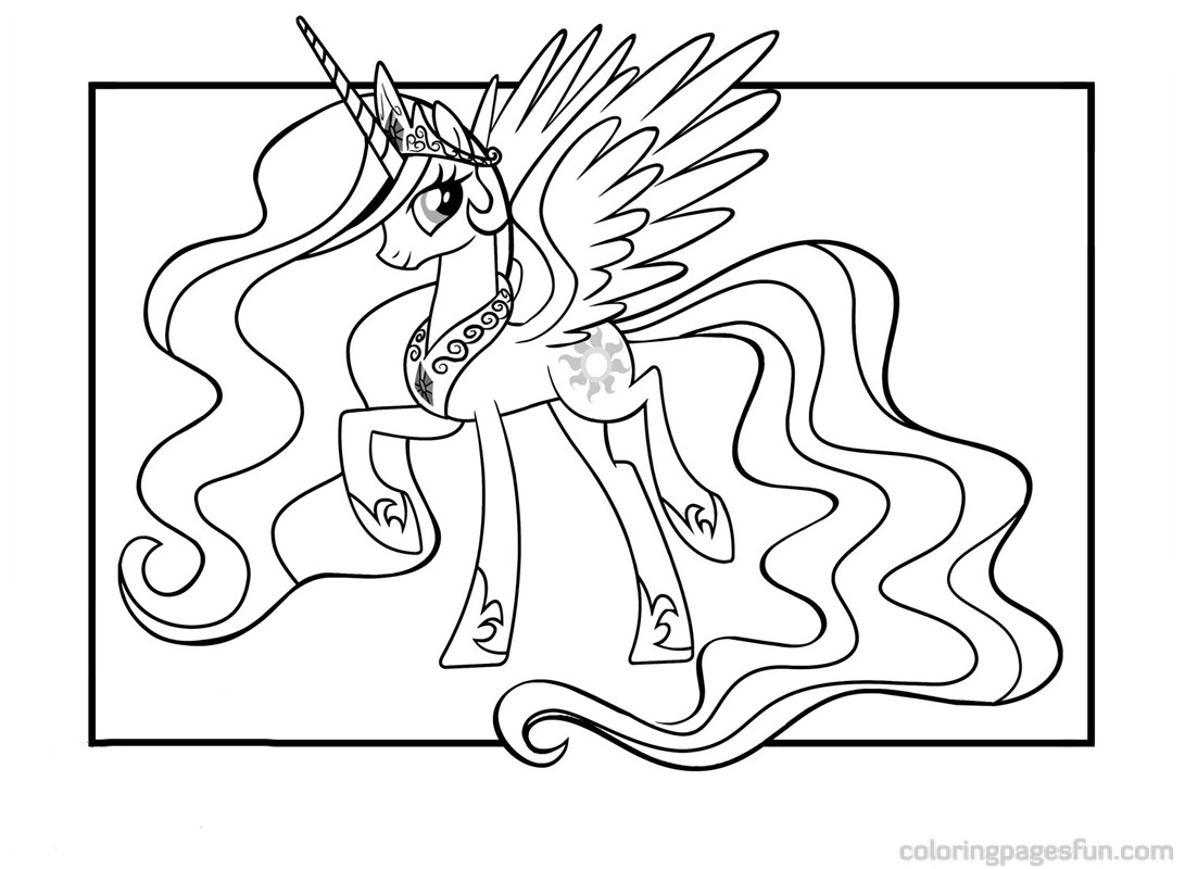 My Little Pony Princess Celestia Coloring Pages For Kids