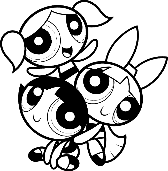 powerpuff girls coloring pages coloring kids