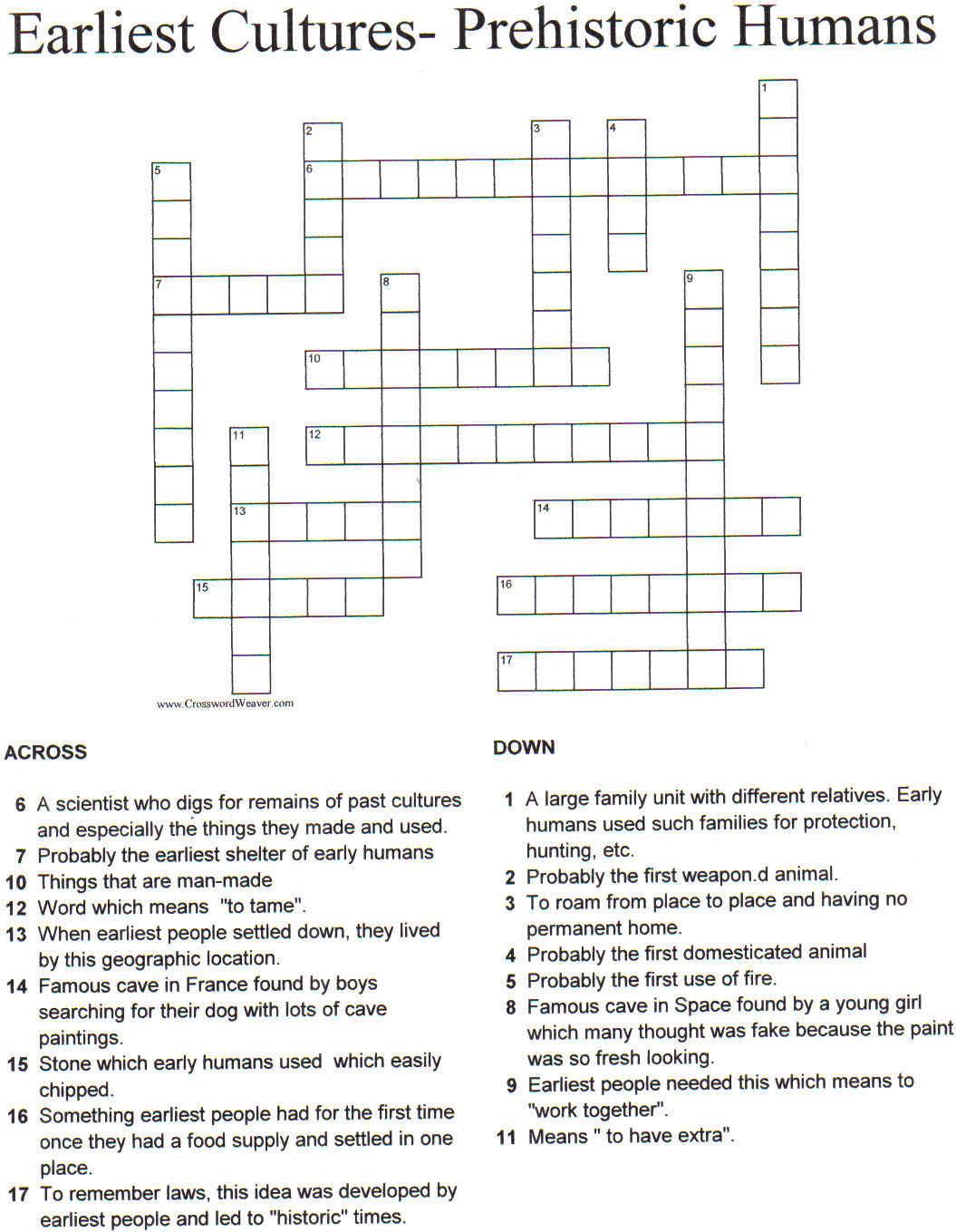 Printable Crossword Puzzles 4