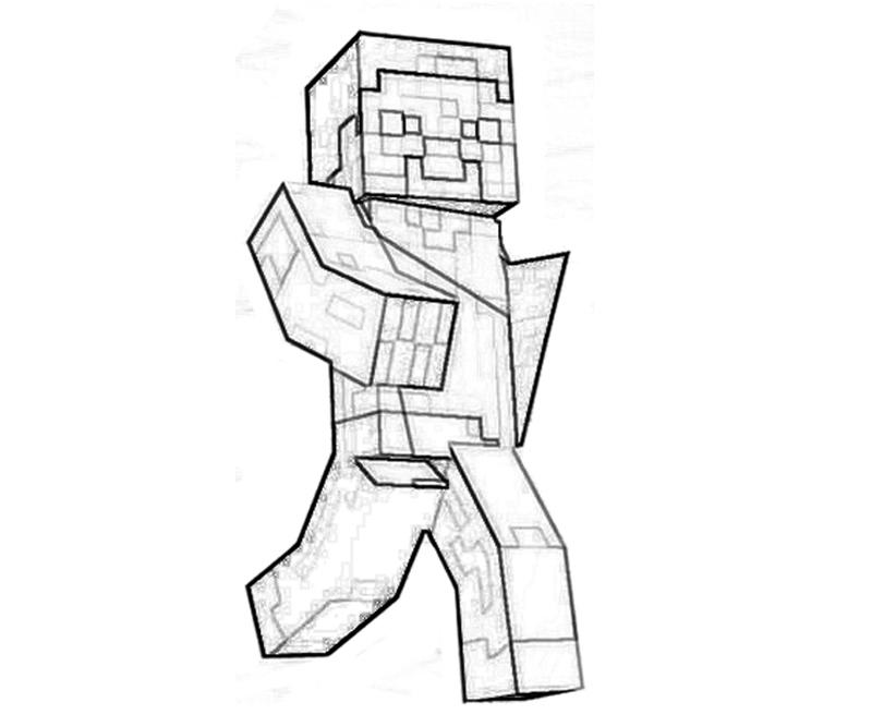 printable minecraft character coloring pages coloring kids