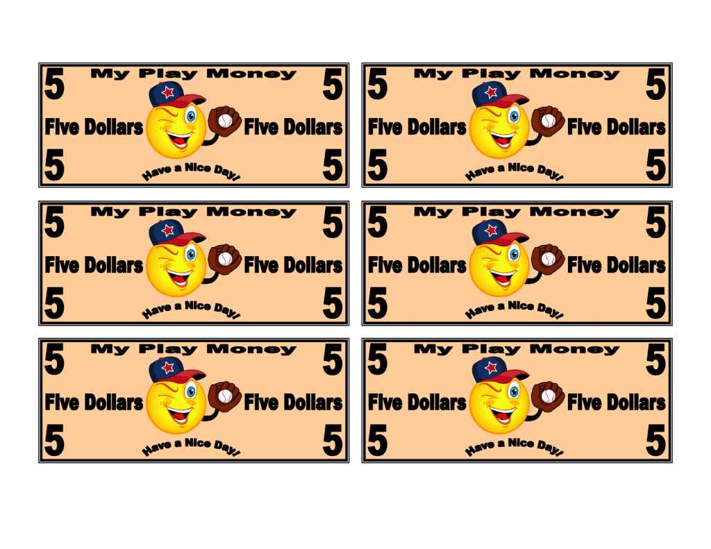 Printable Play Money 2 X791