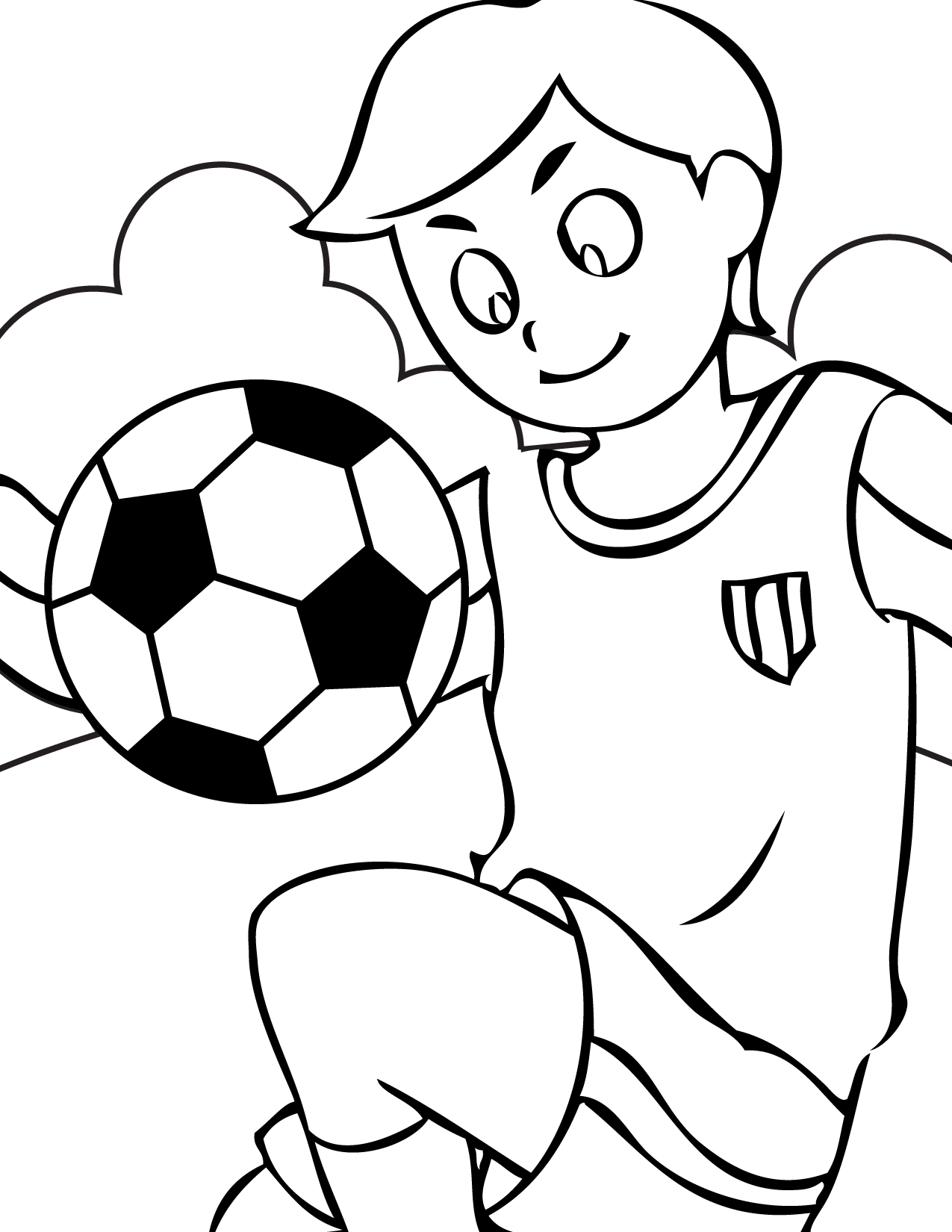 Soccer Coloring Pages 5