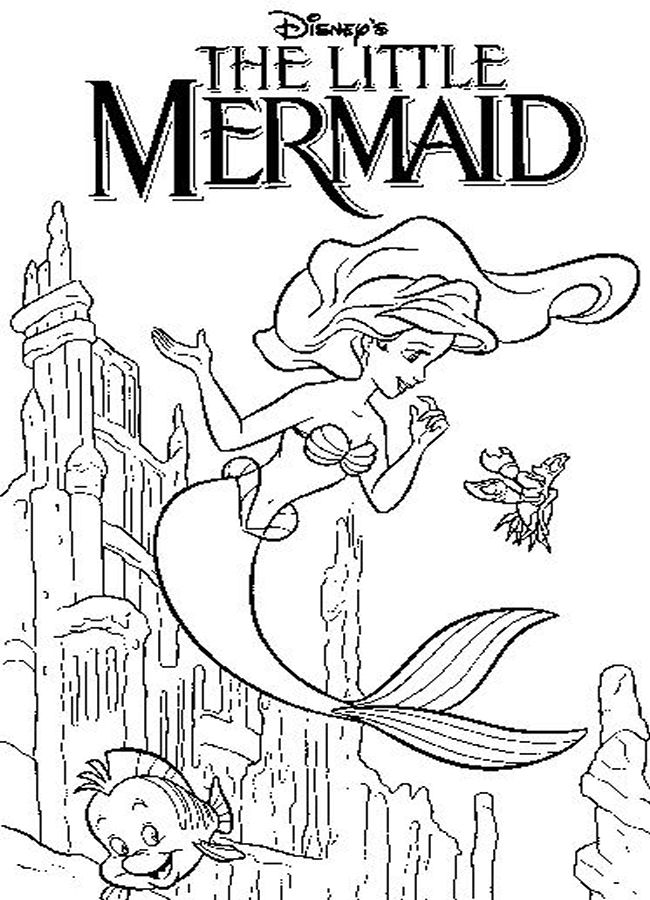 coloring pages 6 activities the little mermaid coloring pages 6