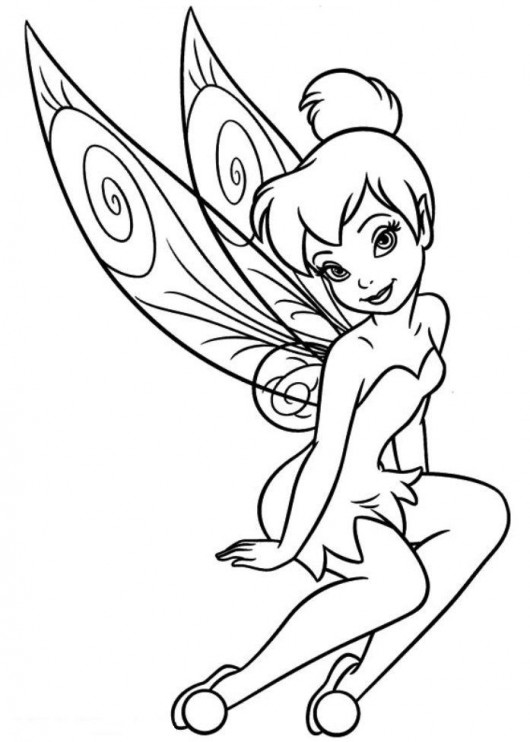 tinkerbell coloring pages 10 coloring kids
