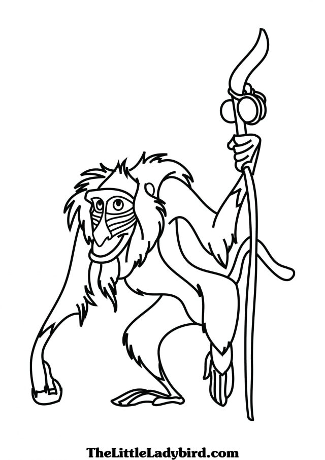 Rafiki The Monkey Coloring Page - Free Printable Coloring Pages