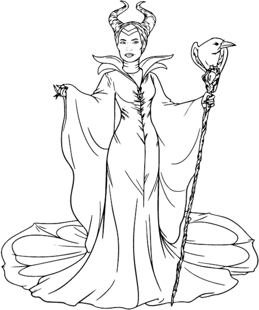 Maleficent Coloring Pages Free Printable Coloring Pages For Kids