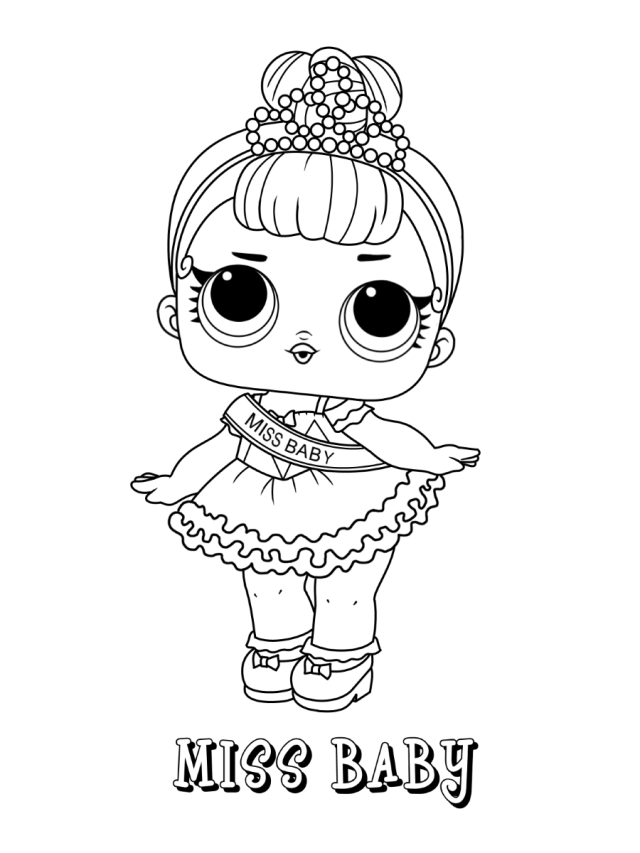 Miss Baby Lol Doll Coloring Page - Free Printable Coloring Pages