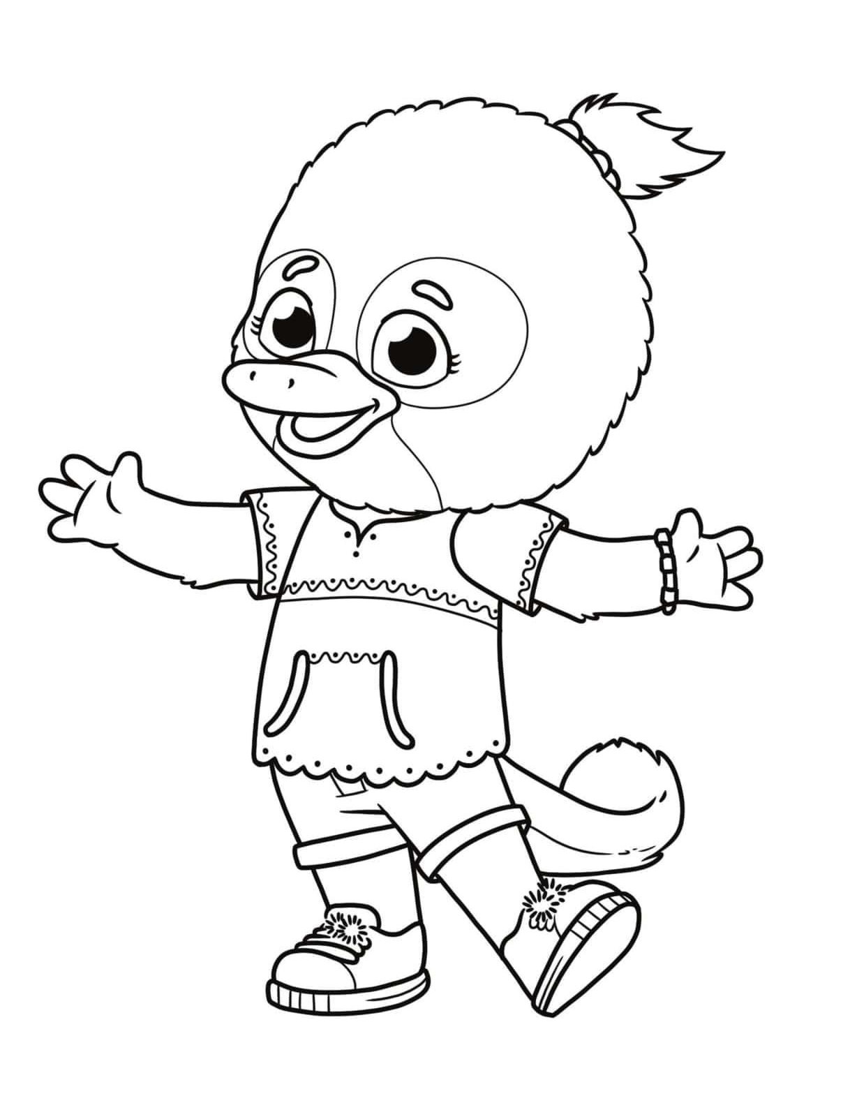 Jodi Platypus Coloring Page Free Printable Coloring Pages For Kids