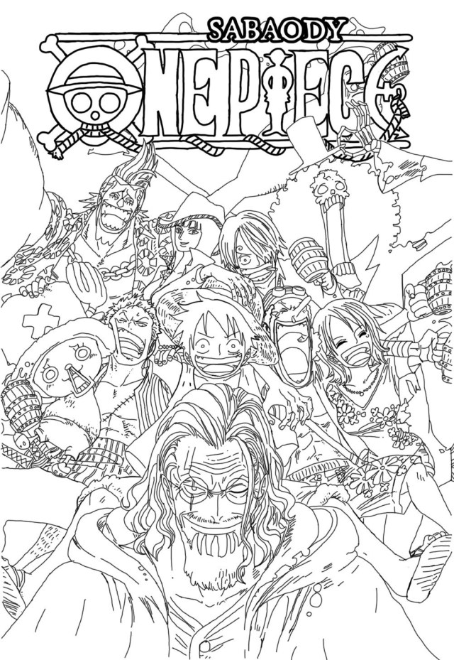 One Piece Coloring Pages - Free Printable Coloring Pages for Kids